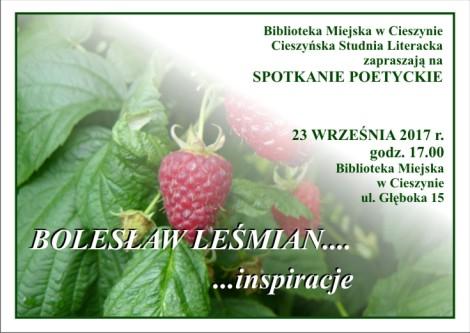 Zaproszenie na spotkanie poetyckie