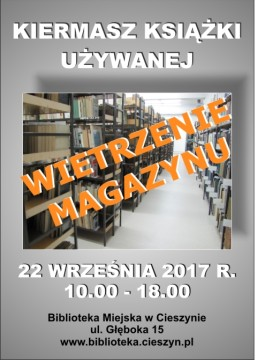 kIERMASZ ksiązki uzywanej 2017 SKARBY Z CIESZYŃSKIEJ TRÓWŁY